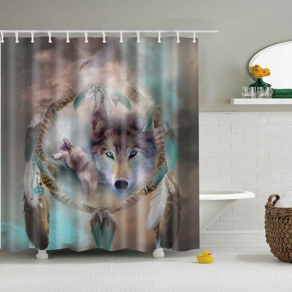 Salle De Bain Shower Curtain ~ acheter rideau de douche abstrait wolf salle de bain rideaux de