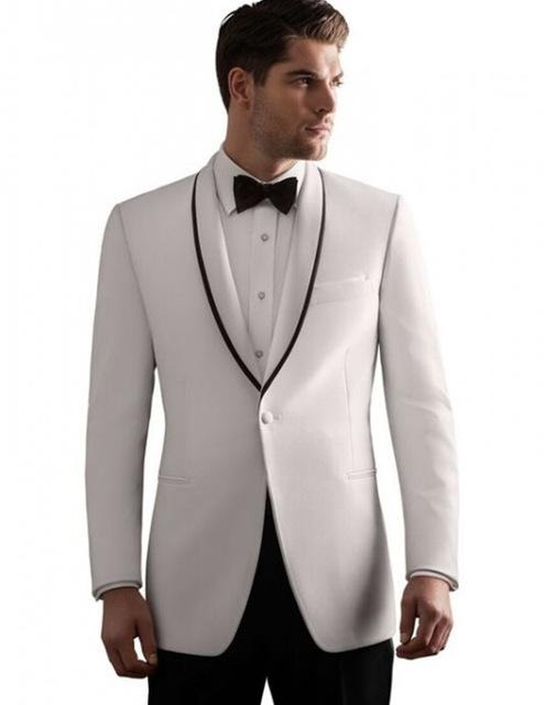 2018 Wholesale Wedding Dress Men Bridegroom Suits White Custom ...