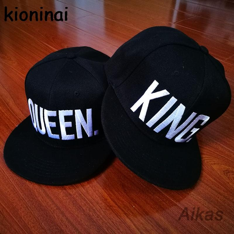 2019 Wholesale KING QUEEN Snapback Hat Acrylic Couple Baseball Cap Men  Women Lovers Gifts For Girl Boy Friends Hip Hip Cap Last Kings Casquette  From ... b4cf3ee688e6