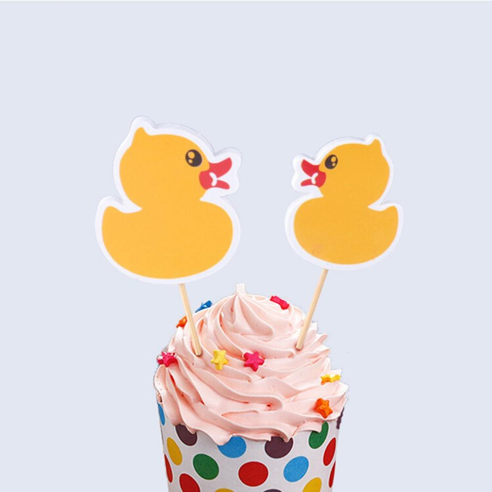 Best Wholesale Cupcake Toppers Yellow Little Duck Theme Cake Topper ...