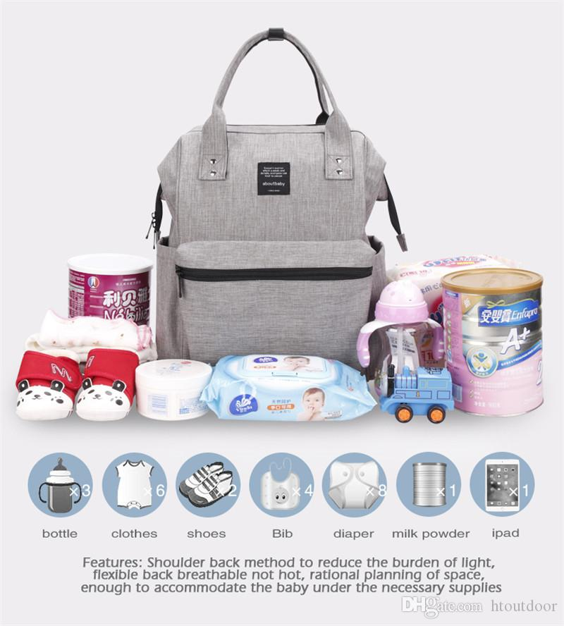 Anti Theft Fashion Casual Baby Pad Changing Diaper Nappy Mommy Mummy Bag Pack Maternity Women Outdoor Travel Handbag Backpack Organizer