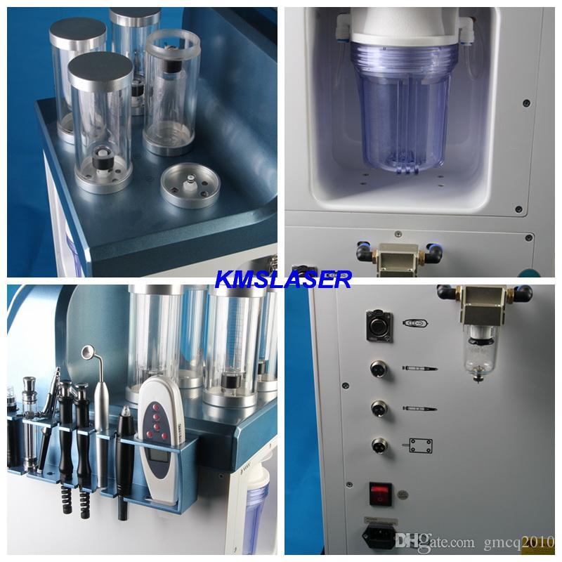 7 in 1 Tecnologia Israele Micro Ago Ago Microodermabrasione Jet Peel Multi-funzionale Macchina di ringiovanimento della pelle Hydrafacacial Multi-Funzionale SPA