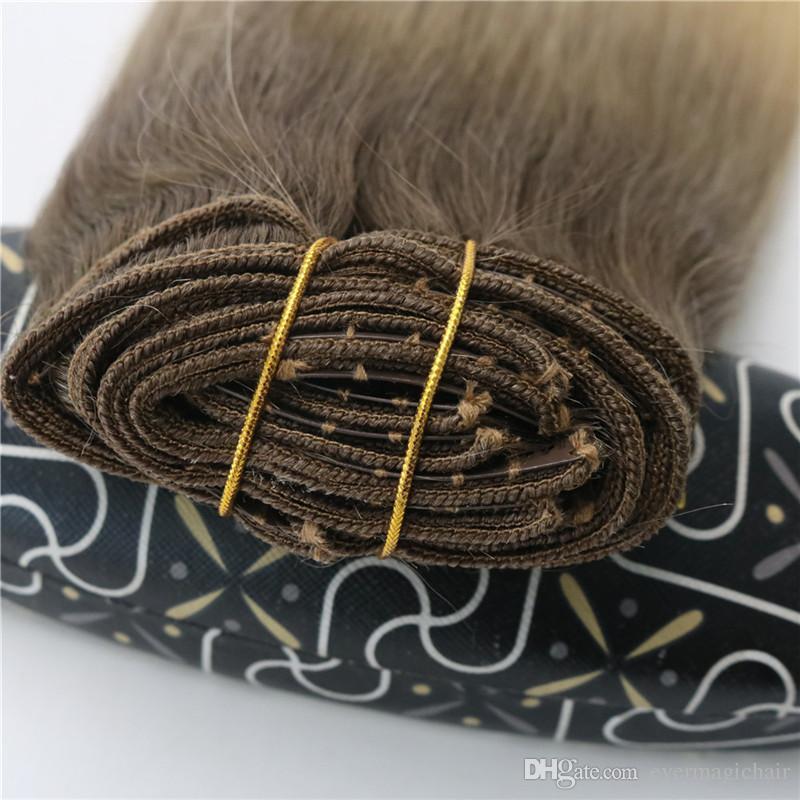 # 8 # 60 # 613 رئيس الكامل كليب في شقراء الشعر الإنسان أومبير بني متوسط أومبير الشعر ضوء BALAYAGE يبرز الكثير 120gram