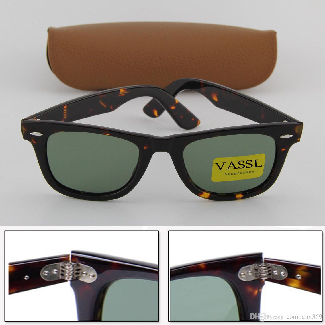 99408b29e4d433 Vassl Brand New Women Sunglasses Style Tortoise Frame Green Lens 50mm UV400  Glasses Wholesale Price For Brown Case Locs Sunglasses Suncloud Sunglasses  From ...