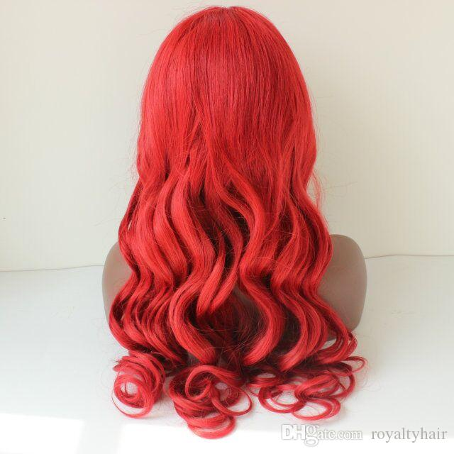 Red color Full Lace Human Hair Wigs for Black Women Glueless Full Lace Wigs Brazilian Hair body wave Lace Front Human Hair Wigs