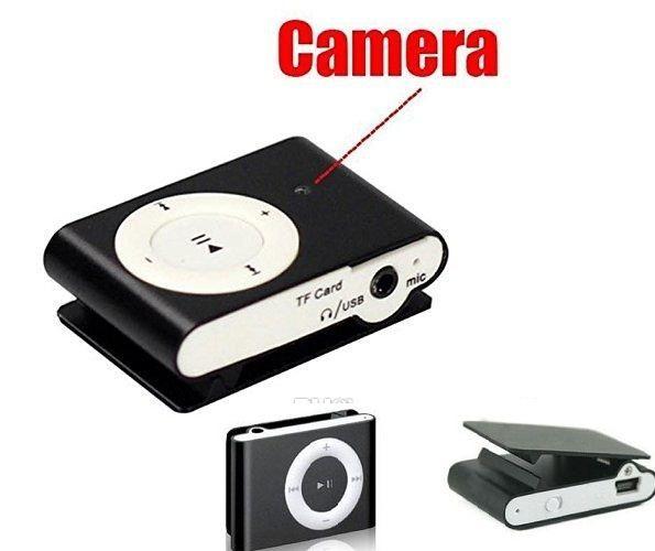 lecteur mp3 sténopé caméra MINI clip corps caméra caméscope numérique vidéo enregistreur audio lecteur de musique DVR bleu / noir avec boîte de détail
