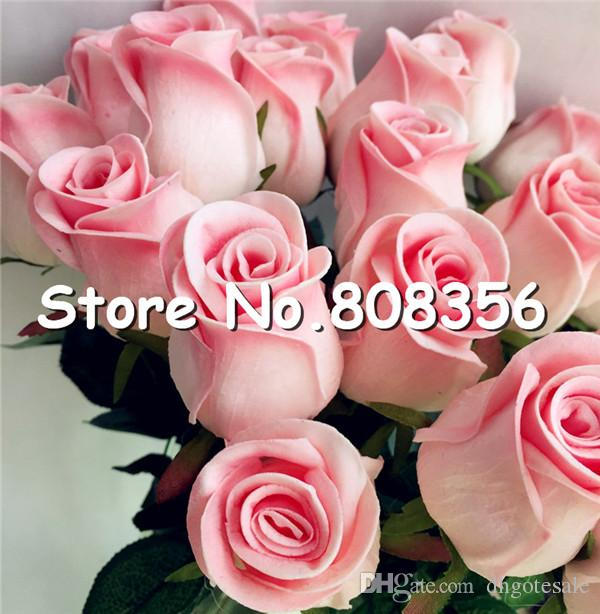 Real Touch PU Roses Flower Artificial Single stem Fake latex Rose bud Love Rosebuds for Wedding Christmas Party Home Flowers