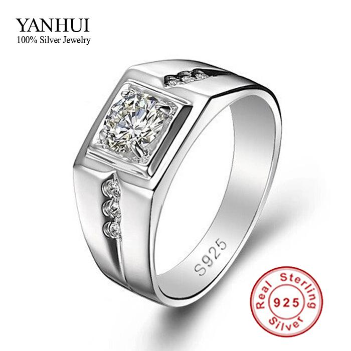 Online Cheap Big Promotion Fine Jewelry Men Ring 925 Sterling