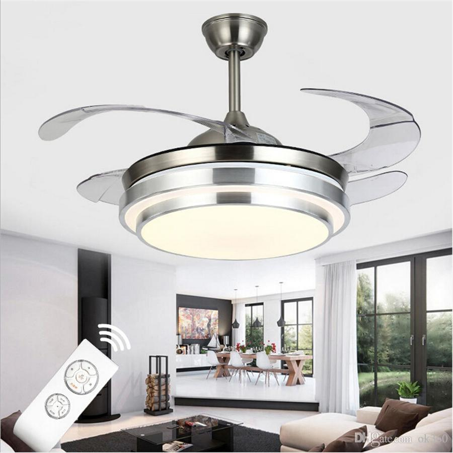 Ultra Quiet Ceiling Fans 110 240V Invisible Blades Ceiling Fans 42 ...