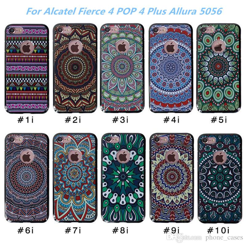 best service d5d30 e13b6 For Alcatel Fierce 4/POP 4 Plus/Allura 5056 MetroPCS New Arrivals 3D High  Quality Soft Ultra Thin TPU Print Back Cover Case