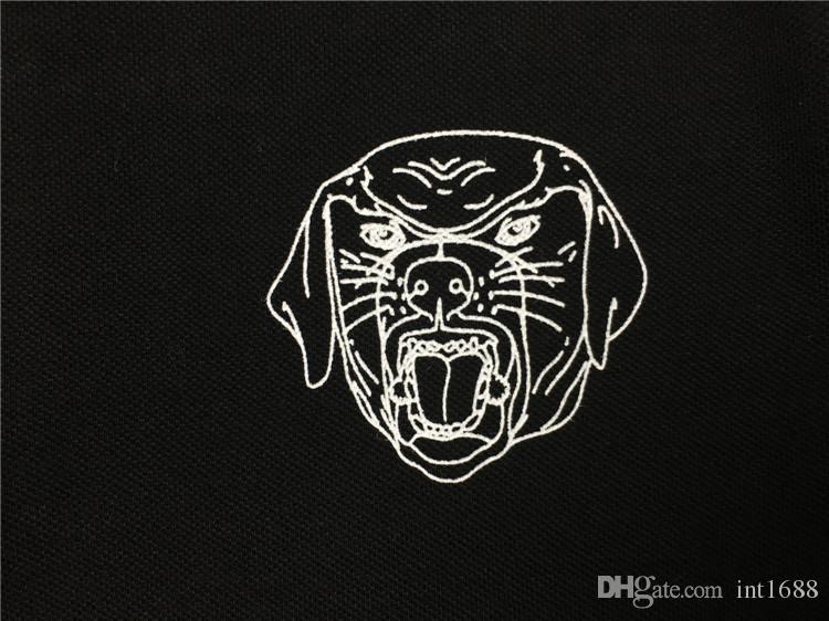 2017 новый повседневная футболка мода Майка мужчины высокое качество футболка с коротким рукавом грудь собака ротвейлер печатных печать топы тройники