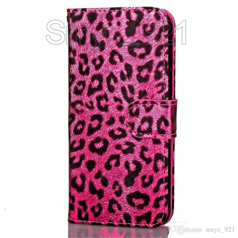 Case for iphone 7 Leather wallet Leopard magnetic phone case flip With card slot Photo Frame kickstand case for iphone 6s plus 7plus,DHL fre