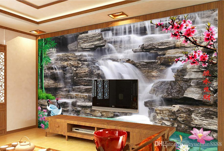 Customized 3d wallpaper roll Hexagonal rose TV background wall wallpaper for walls 3 d photo wall mural for living room