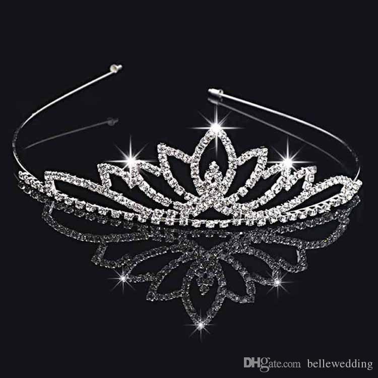 Свадебные диадемы короны со стразами свадебные ювелирные изделия девушки диадемы день рождения производительность конкурс Кристалл свадебные аксессуары #BW-T020