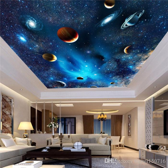 Custom 3D Space Mural Wallpaper Astronomical Galaxy Planet Landscape