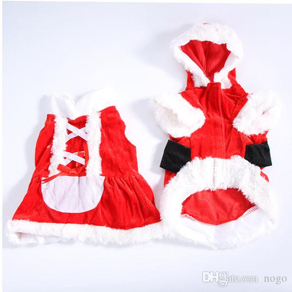 Clothes for Dog Costume Christmas Pet Clothes Winter Hoodie Coat Pet clothing/dress Pet/perrito Santa