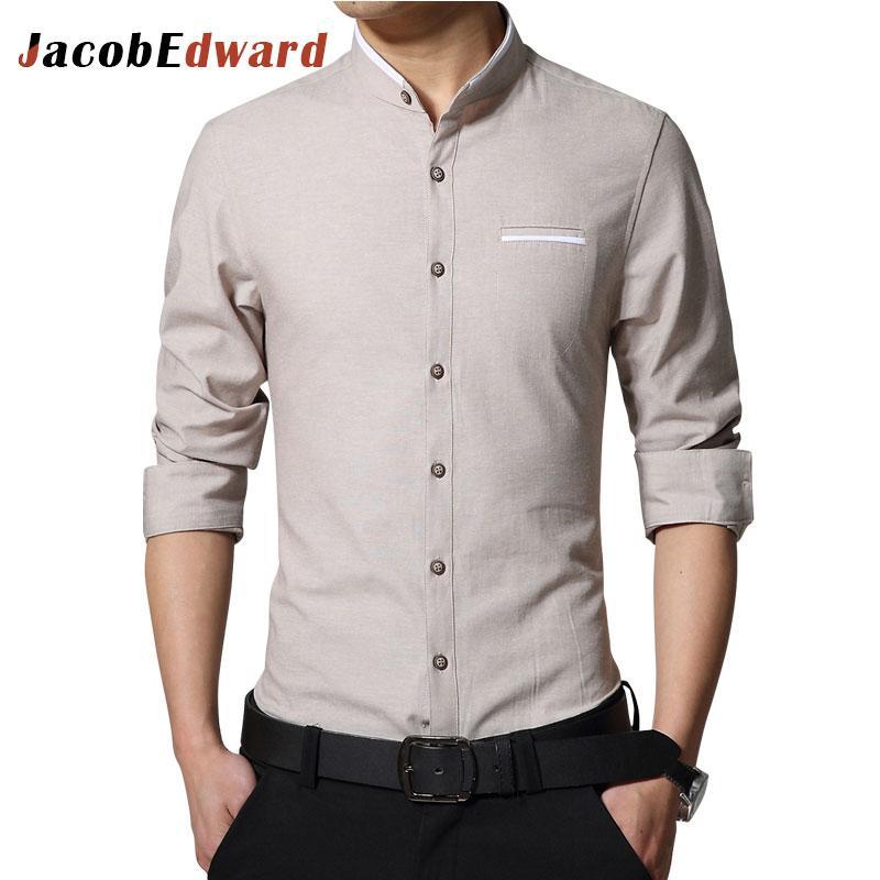 2018 Wholesale Jacobedward Brand Office Shirt Men 2017 Spring Shirts ...