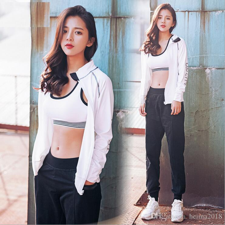dbb5c98e2eb 2019 Spring New Suit 2017 Korean Women Thin Fitness Clothes Leisure Sports  Wear Yoga Suit Three Sets From Heima2018