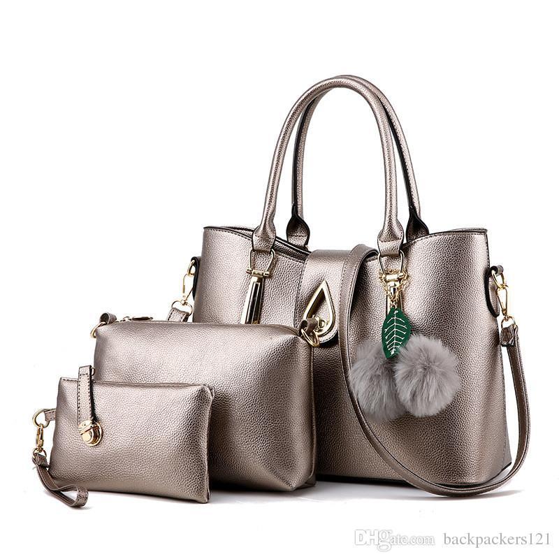 Mulheres Bolsas PU Bolsa Mensageiro Ladies Famoso Bolsa / Set Ombro presentes Composite Bag Natal