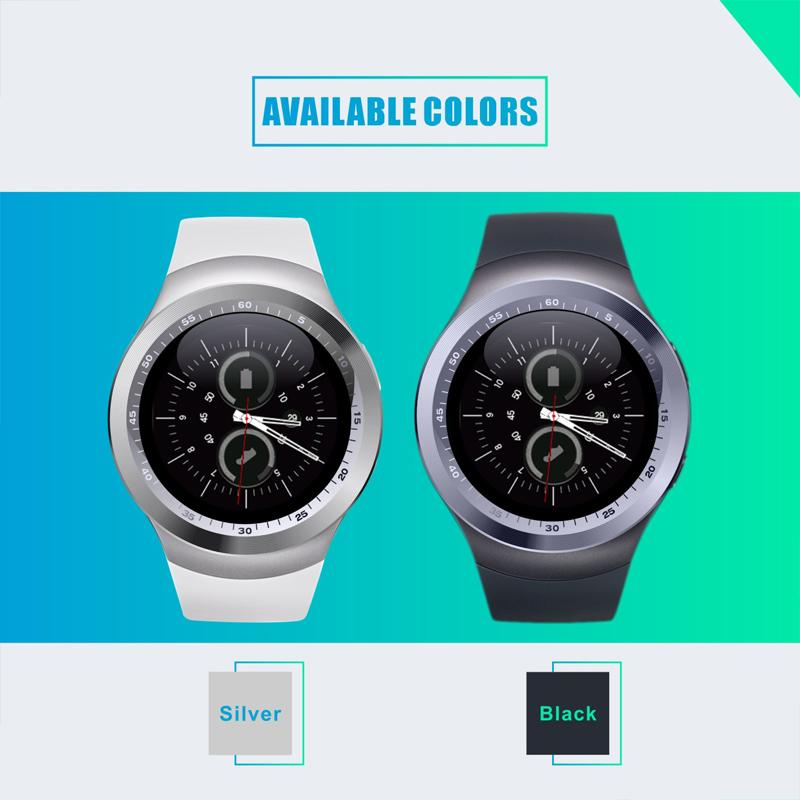 Smart Watch Y1 Support Nano SIM &TF Card With Whatsapp And Facebook fitness Smartwatch For IOS Android phone Via DHL