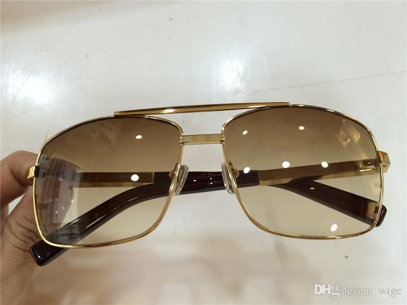 b8af31c6b65 Luxury Men Brand Designer Sunglass Attitude Sunglasses Square Logo ...
