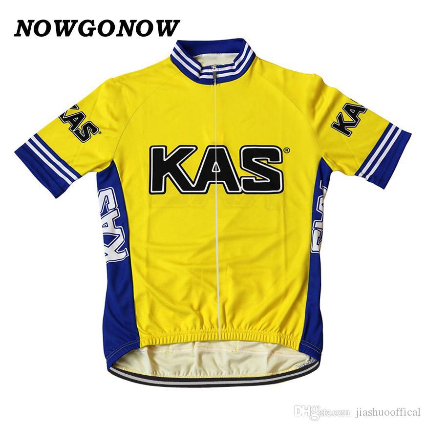 Özelleştirilmiş YENI Sıcak Retro Sarı Klasik mtb yol YARI Takım Bisikleti Pro Cycling Jersey / Gömlek Tops Giyim Solunum Hava JIASHUO