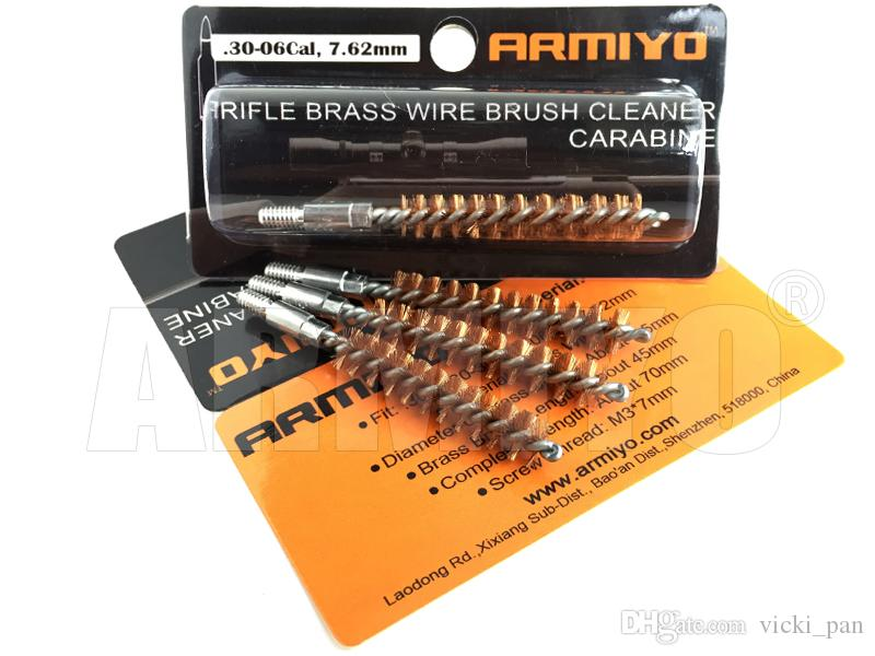 Armiyo .30-06Cal .30Cal 7.62mm Hunting Rifle Gun Bronze Wire Barrel Cleaning Brush Screw Thread Size 8-32