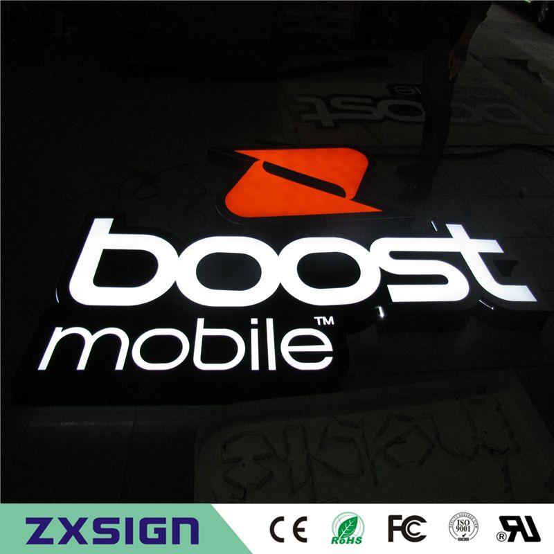 Factory Outlet Custom Outdoor wasserdicht Anti-Rost helle LED-Zeichen Buchstaben und Kanal Buchstaben Werbung Logo Zeichen