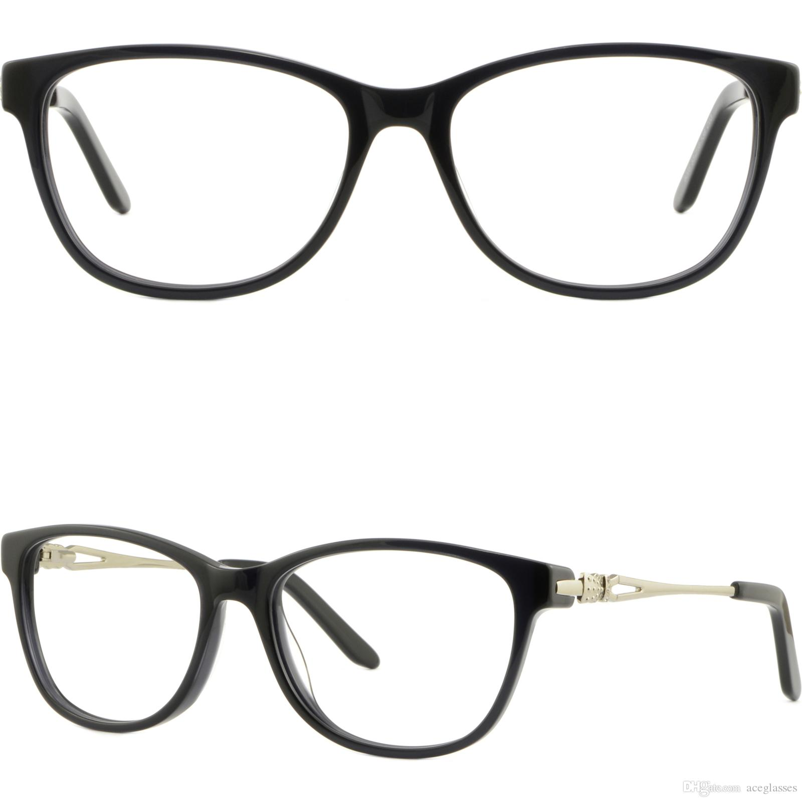 Womens Acetate Frames Spring Hinges Metal Temple Arms Lunettes RX ...
