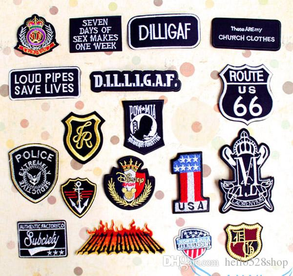 Badge Cloth Patch 2017 New Large Black Cowboy English Embroidery Hole  Repair Decals Patches