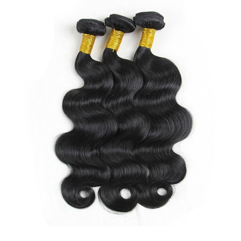 Unprocessed Indian Virgin Human Hair Weaving Body Wave Hair Bundles Natural Color Brazilian Peruvian Malaysian Remy Hair Extensions