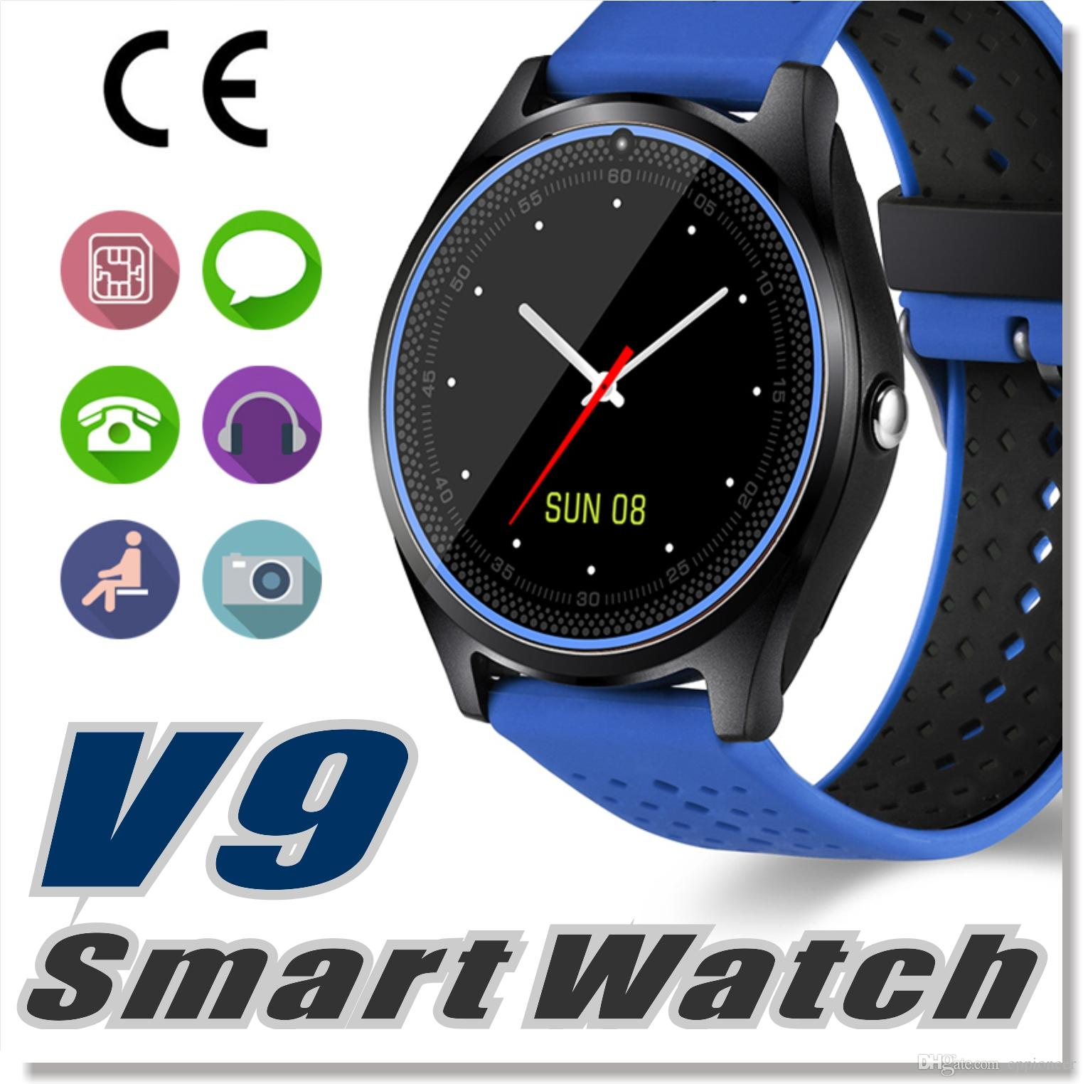 V9 Smartwatch Android V8 Dz09 U8 Samsung Smart Watches Sim Intelligent Mobile Phone Watch Can Record The Sleep State Smart Watch Kids Smart Watch Phone Men
