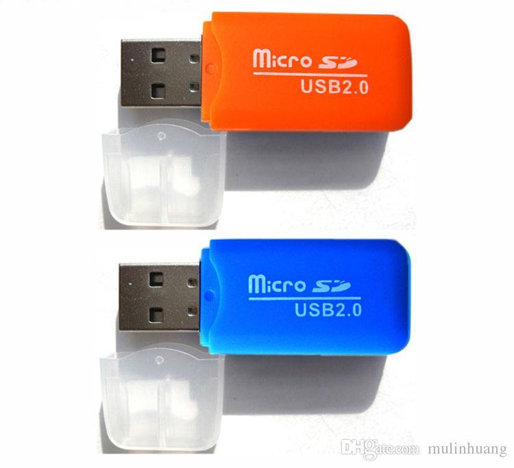 Yüksek Hızlı Kart Okuyucu USB 2.0 Mikro SD kart T-Flash TF M2 Bellek Okuyucu adaptörü 2 gb 4 gb 8 gb 16 gb 32 gb 64 gb TF Kart DHL Ücretsiz Kargo MQ1000