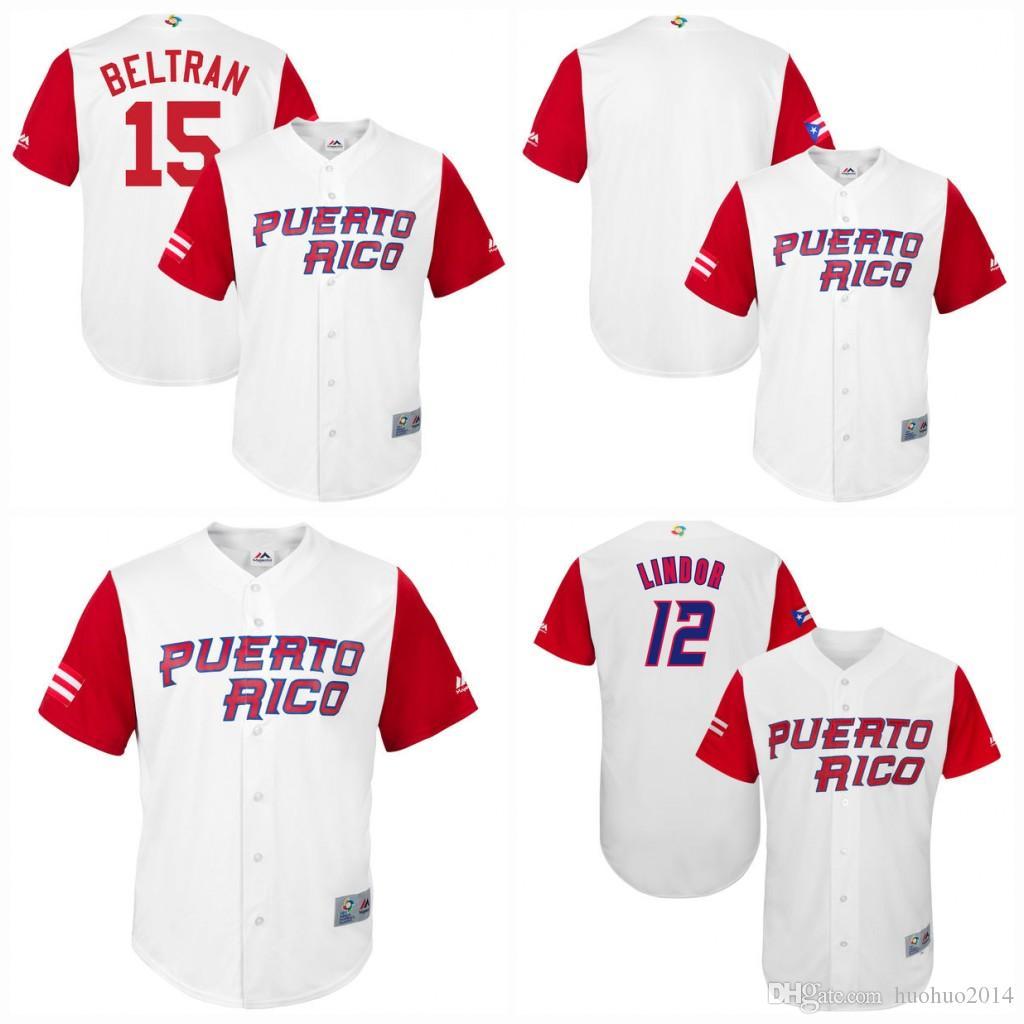 Compre   15 Carlos Beltran Hombres Puerto Rico 2017 Camisetas Clásicas Del  Béisbol Del Mundo 100% Stiched Embroidery Logos Jerseys De Béisbol A  21.32  Del ... eacad939644b7