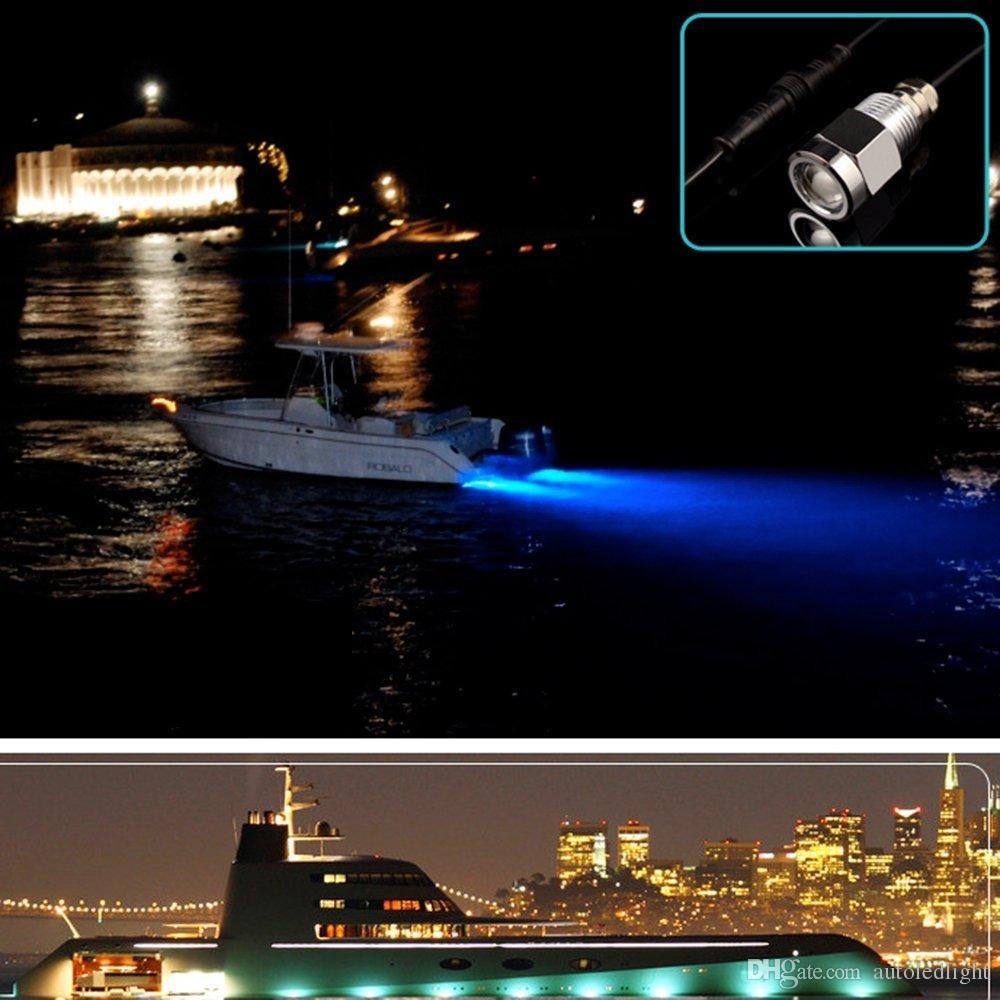 2019 Marine Boat Drain Plug Led Light 9w Blue White Red