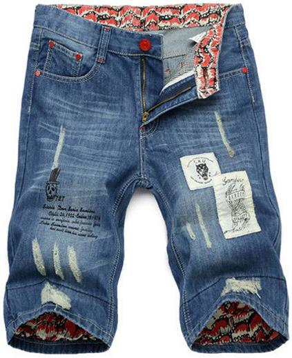 509a9dda3 Compre Atacado Bermudas Masculinas Denim 2014 Calça Jeans Masculina Shorts  Shorts Jeans Moda De Honey111