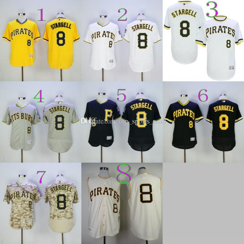 newest collection 19f5a 9fbe0 pittsburgh pirates willie stargell 8 black replica mlb ...