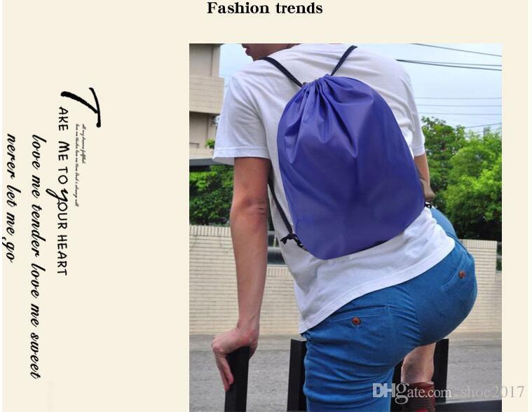 210D polyester bundle pocket Oxford cloth stretch rope pull rope shoulder bag sports bag