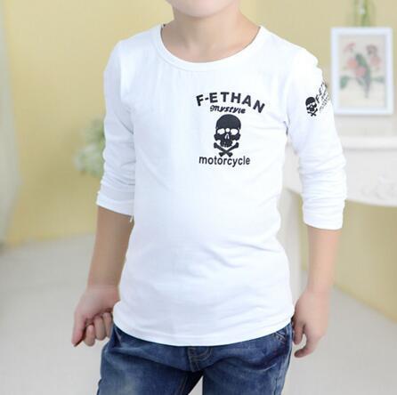 소년 패션 캐주얼 키즈 의류 긴 소매 티셔츠 어린이 Activewear 소년 해골 인쇄 셔츠 아동 의류 DHL
