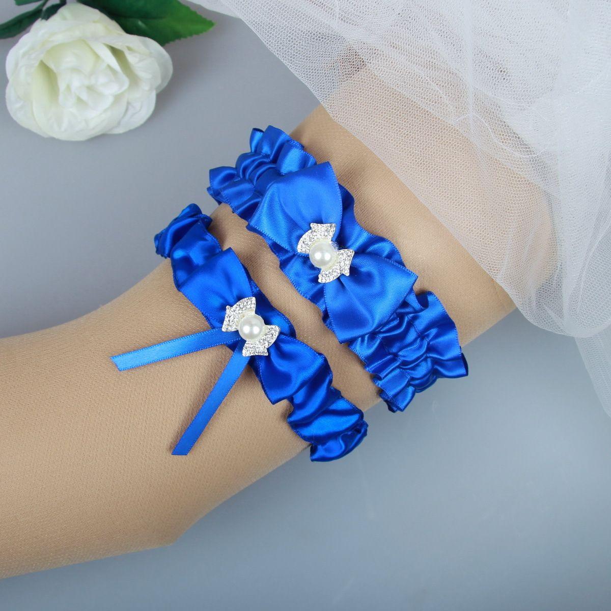 Royal Blue Prom Wedding Garter Bridal Garter Set With