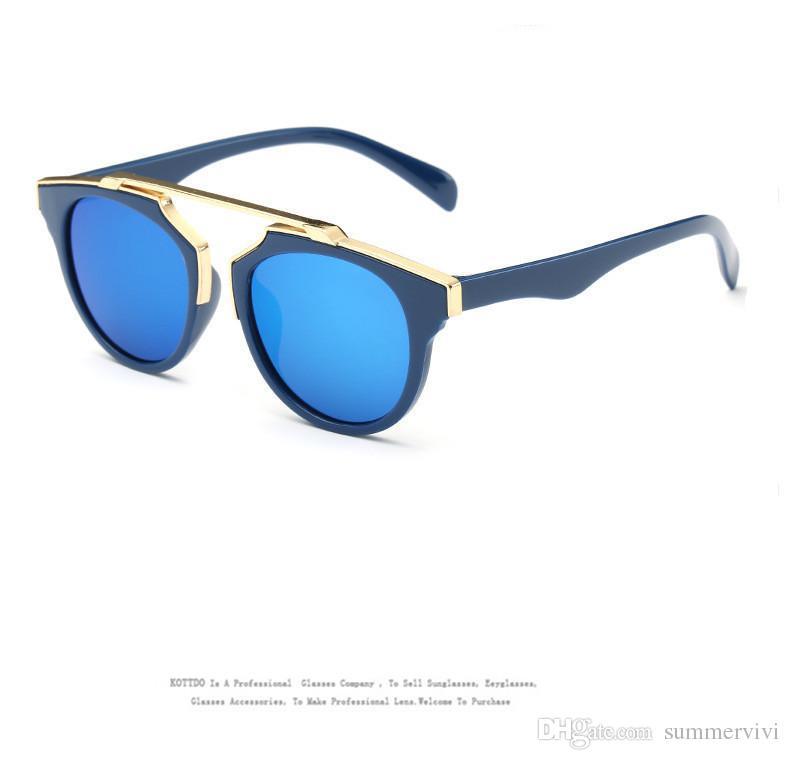 Crianças vintage óculos de sol meninos óculos de sol crianças meninas meninas bonito uv400 sunglass verão miúdo miúdo praia acessórios t4780