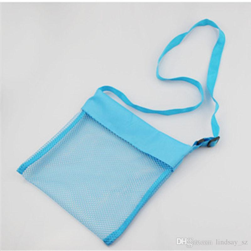 أطفال ألعاب الشاطئ تلقي حقيبة شبكة Sandboxes بعيدا عن رمل الطفل Sandpit التخزين شل صافي الرمال بعيدا شاطئ شبكة الحقيبة