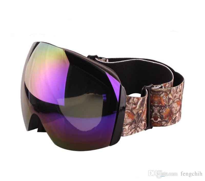 77a9a50ee6 Compre La Nueva Lente Para Hombre De Gafas De Sol Es Un Gran Espejo De  Esquí Esférico Anti Viento Y Anti UV400 Espejo Lunettes De Soleil A $12.17  Del ...