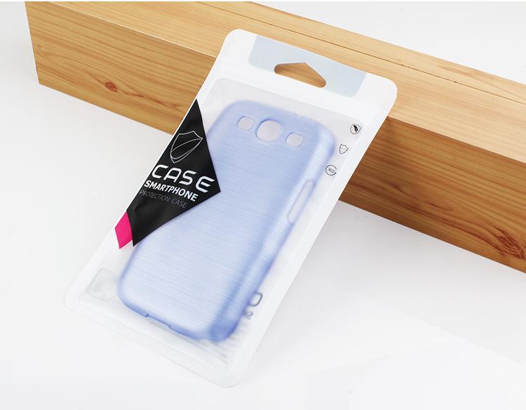 Nuovo arrivo nome personalizzato società nome cerniera serratura di plastica trasparente pvc sacchetti di imballaggio la cassa del telefono iphone 7 7plus sacchetto di imballaggio della cassa del telefono