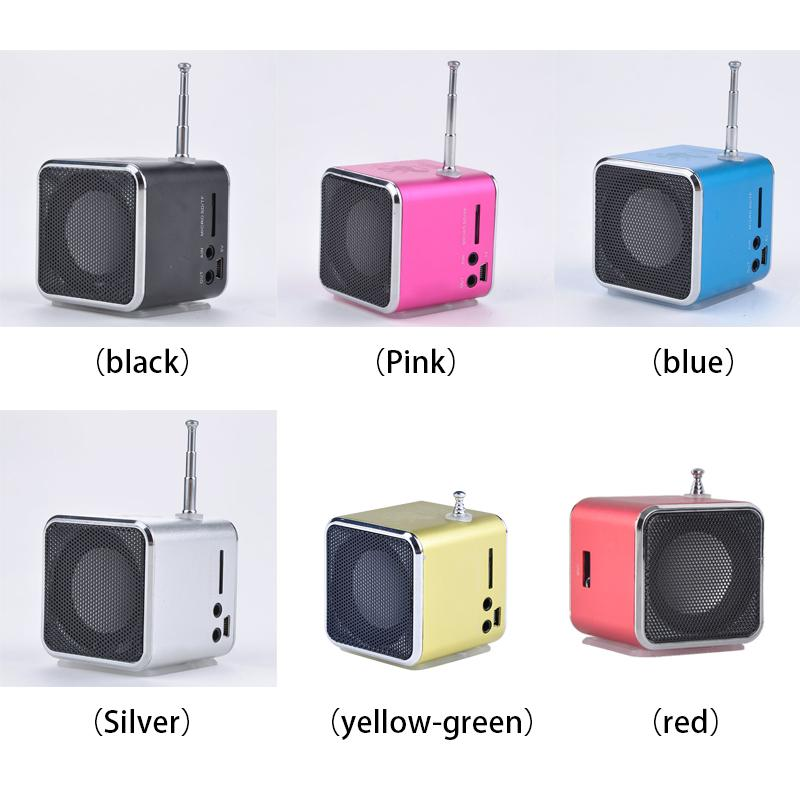 Atacado-1pcs Mini LED Música Estéreo Media Speaker Music Player Rádio FM USB Micro SD TD-V26 Para iPhone
