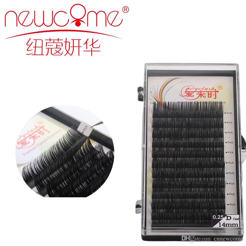 69ab8f4125 Newcome Eyelash Extension 1 Case B C D Curl 8-15mm Natural Long ...