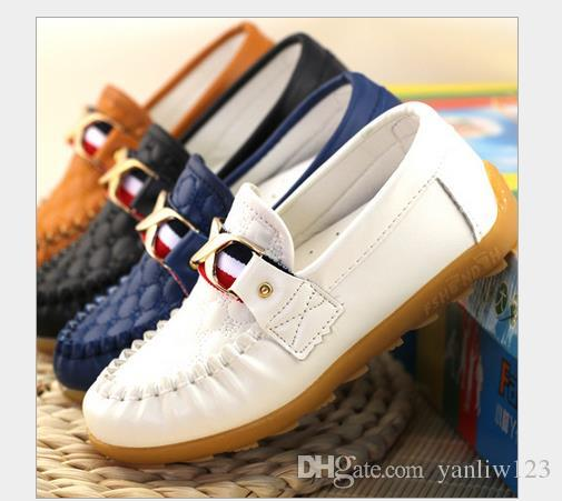 Children shoes spring autumn Toddler Little Boys loafers shoes kids Slip-on PU leather kids casual shoes