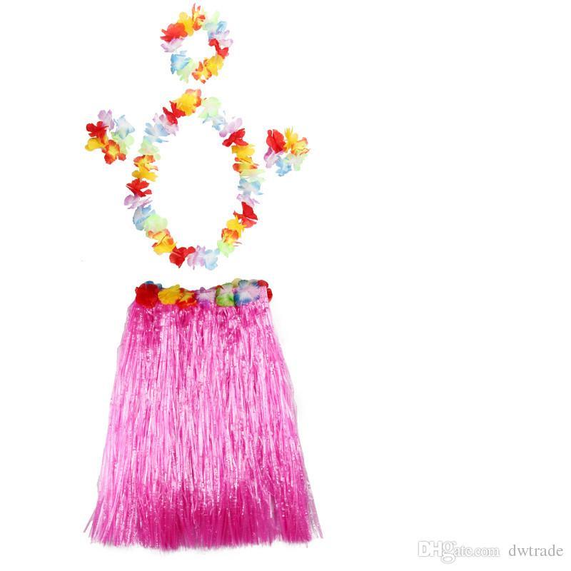 Traje de baile al por mayor de Halloween que baila el traje de falda de Hula Desfile de moda de Hawaii multicolor un envío libre de DHL
