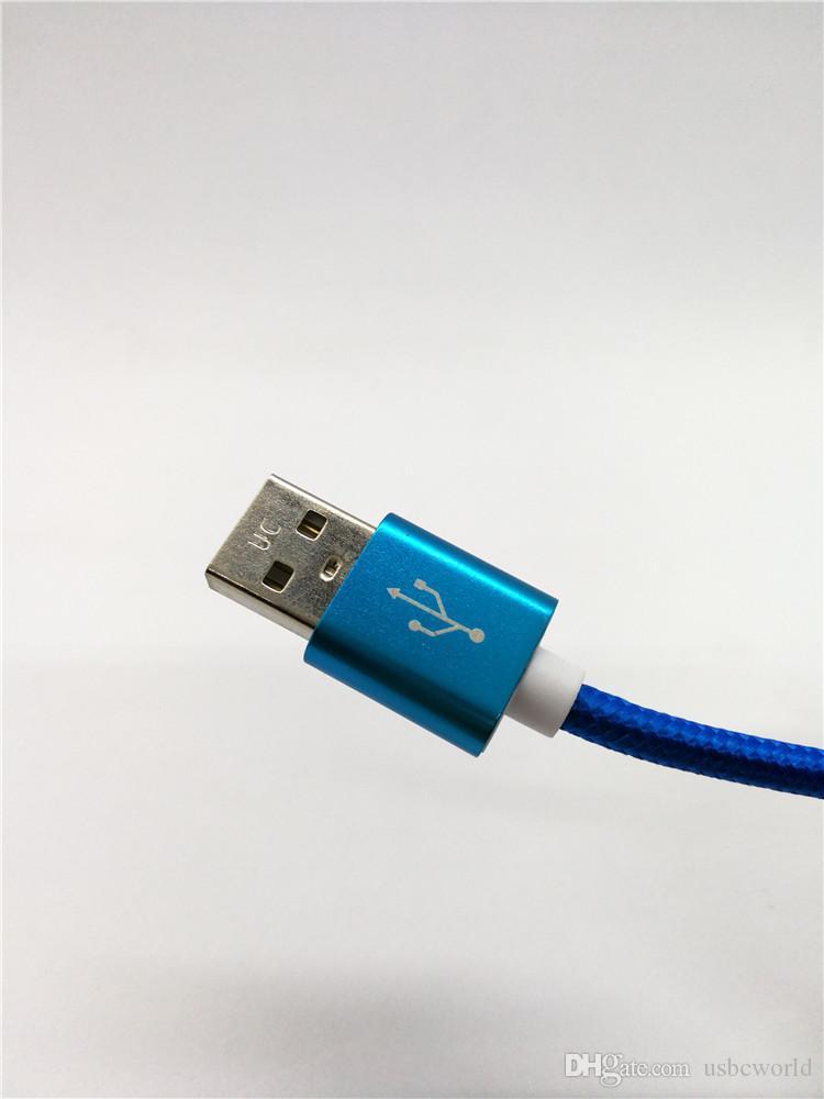 Haute Qualité Rapide De Charge Type C À USB Câble 1.0 Mètre 3 Pieds Pour Samsung Note 8 S8 S8 Plus