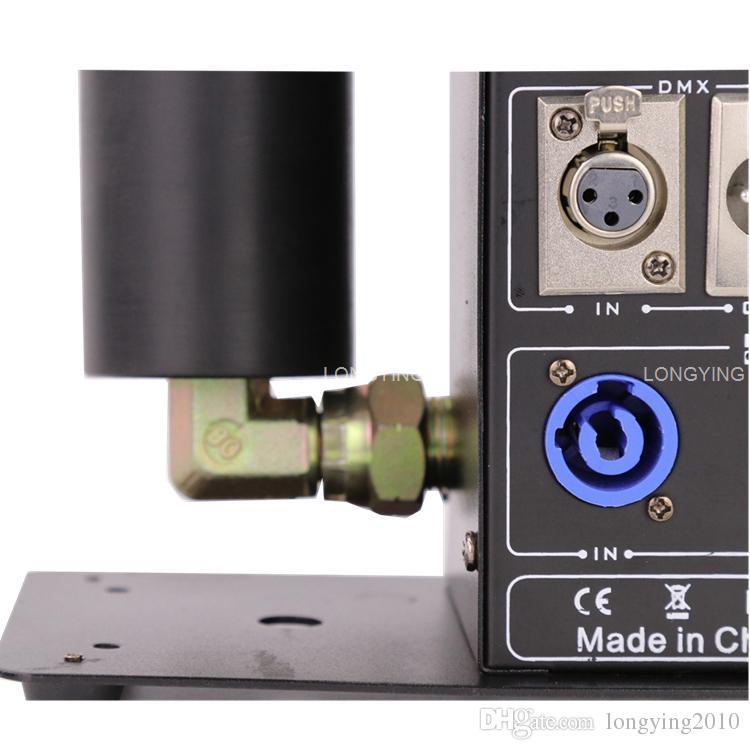4 قطعة / الوحدة شاشة lcd عرض dmx 512 co2 آلة البرد جيت co2 آلات الدخان المؤثرات الخاصة آلة مدفع co2
